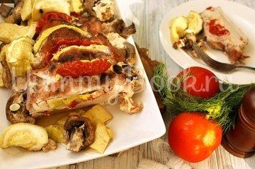 Свинина запечённая с овощами и грибами - шаг 4