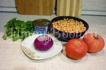 Сытный и полезный салат с нутом - шаг 1