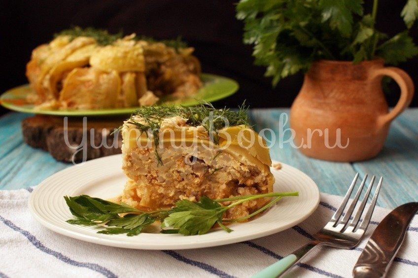 Кабачковый пирог с фаршем в мультиварке