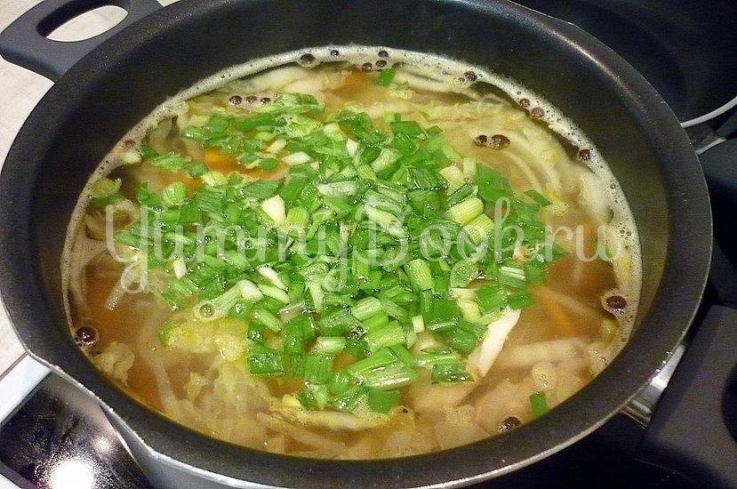 Куриный суп с лапшой, имитирующий японскую кухню - шаг 12