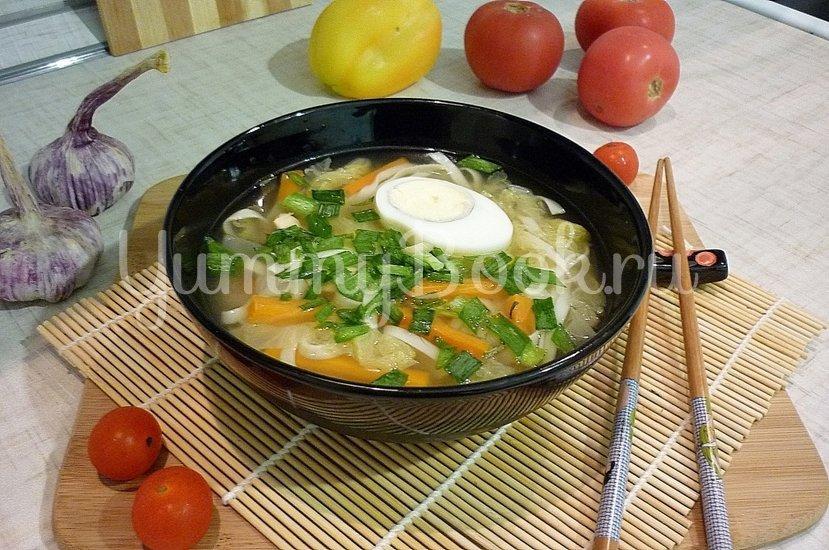 Куриный суп с лапшой, имитирующий японскую кухню - шаг 14
