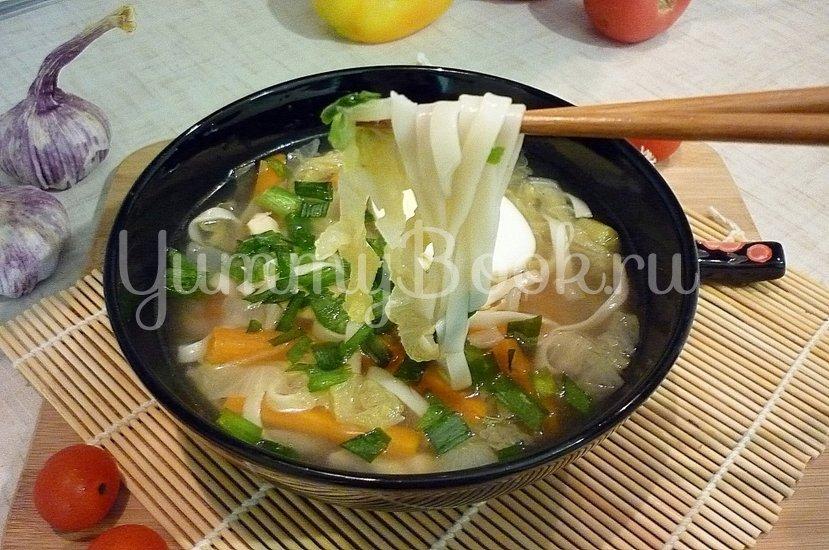 Куриный суп с лапшой, имитирующий японскую кухню - шаг 16
