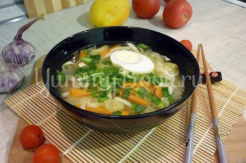 Куриный суп с лапшой, имитирующий японскую кухню - шаг 15