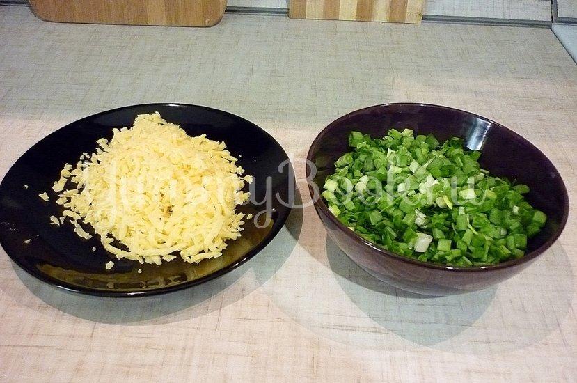 Хрустящие лепёшки с сыром и зелёным луком - шаг 6