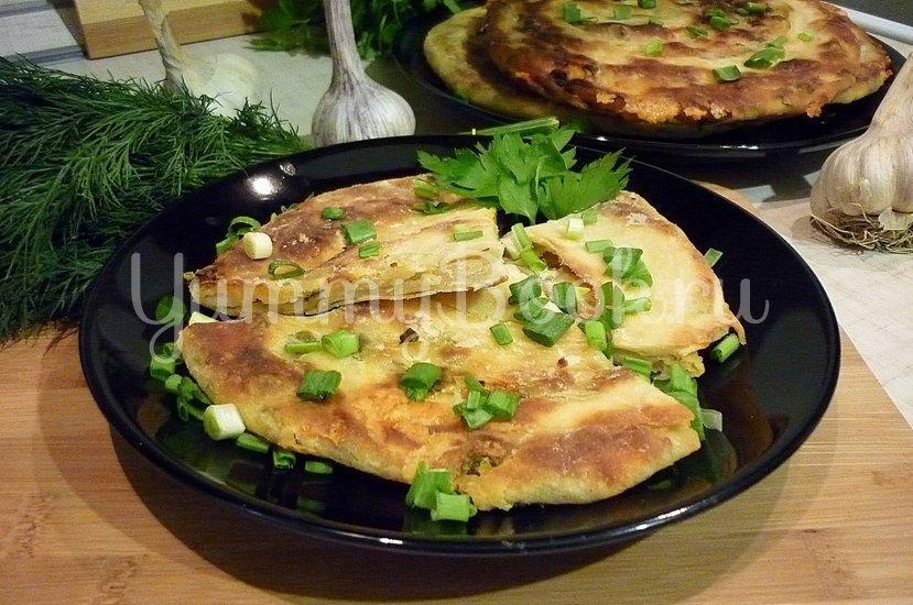 Хрустящие лепёшки с сыром и зелёным луком - шаг 17