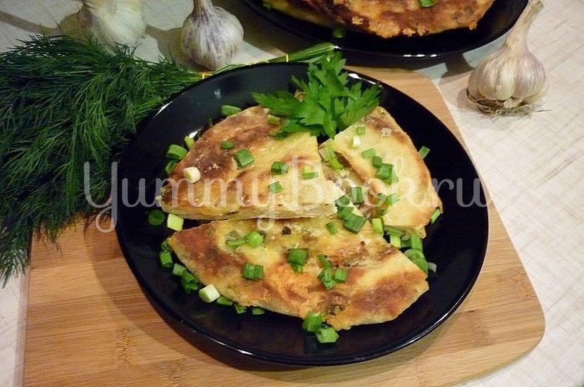 Хрустящие лепёшки с сыром и зелёным луком - шаг 16