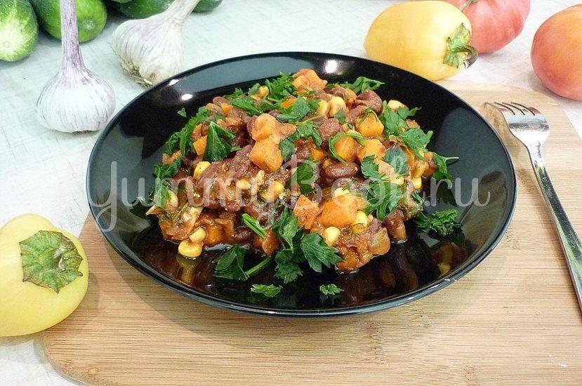 Тушёная фасоль с овощами в томатном соусе - шаг 12
