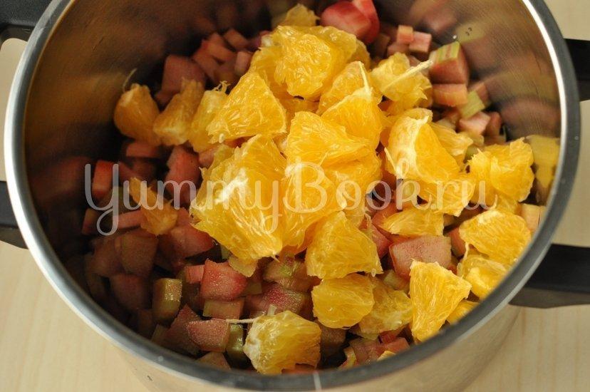 Варенье из ревеня с апельсином - шаг 2