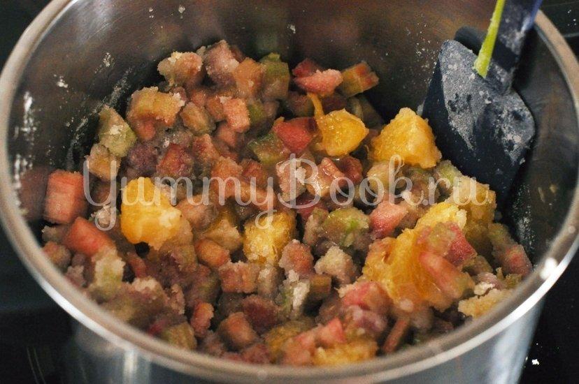Варенье из ревеня с апельсином - шаг 3