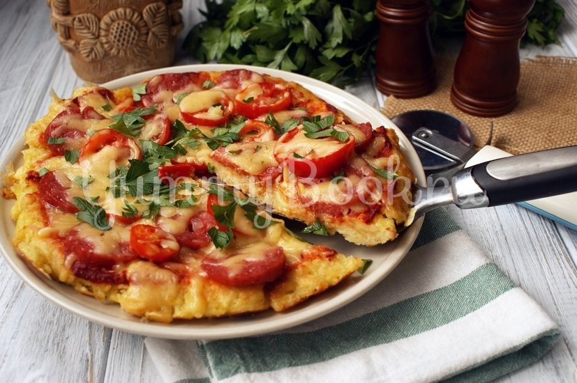 Картофельная пицца на сковороде - шаг 9