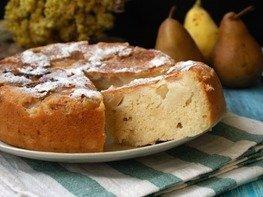 Пирог с грушами на кефире в мультиварке