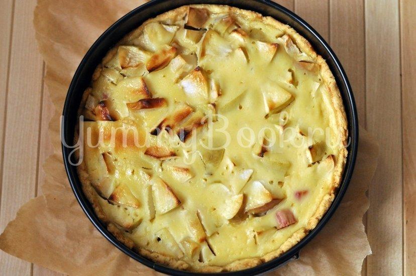 Яблочный тарт с ревенем - шаг 9