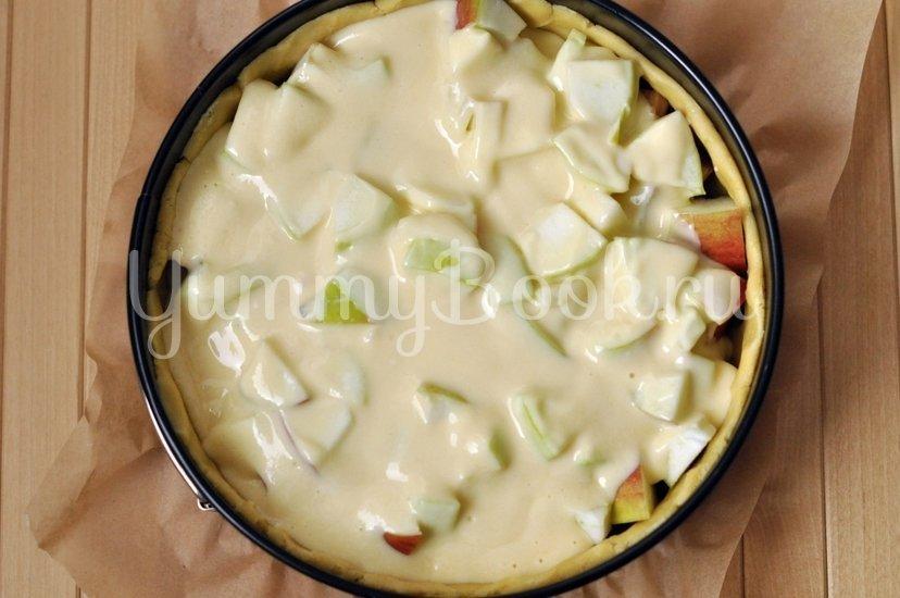 Яблочный тарт с ревенем - шаг 8
