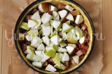 Яблочный тарт с ревенем - шаг 7