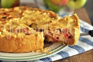 Яблочный тарт с ревенем - шаг 11