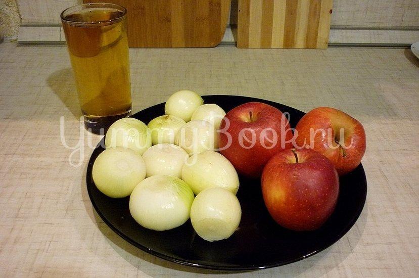 Запечённая свинина с луково-яблочным соусом - шаг 3