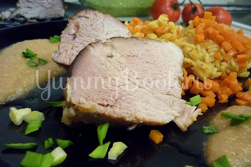 Запечённая свинина с луково-яблочным соусом - шаг 15