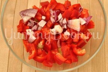 Салат овощной с грибами - шаг 3