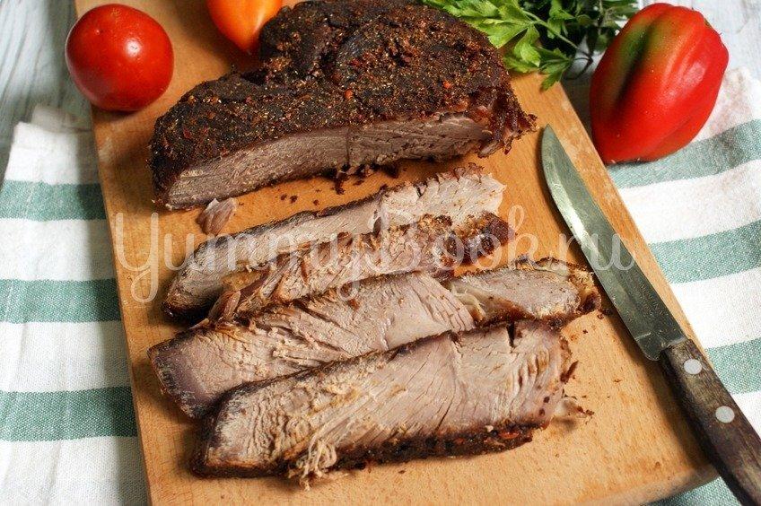 Пастрома из говядины в маринаде