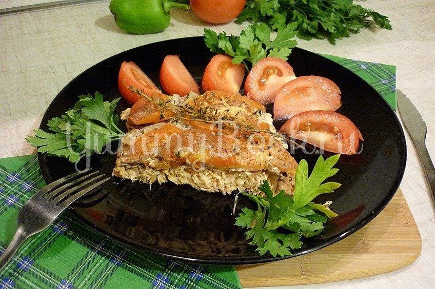 Филе горбуши, запечённой с тимьяном