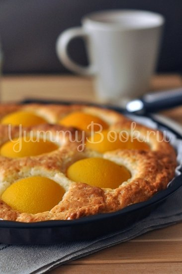 Пирог с консервированными персиками - шаг 5