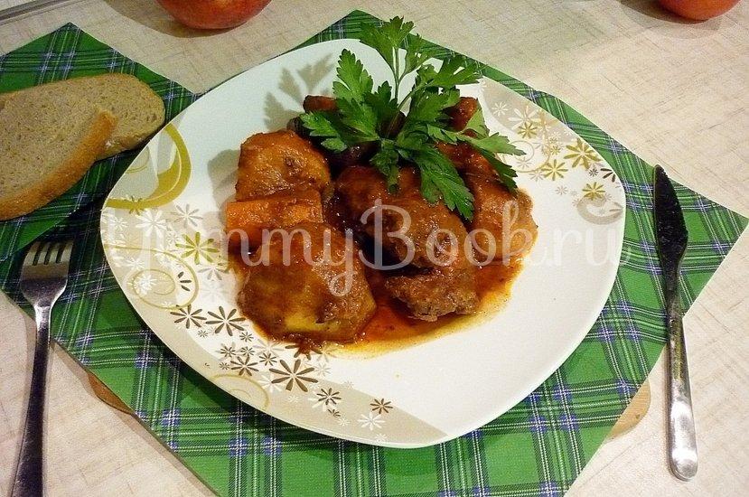 Острая утка, запечённая с картофелем и морковью - шаг 8