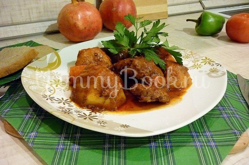Острая утка, запечённая с картофелем и морковью - шаг 9
