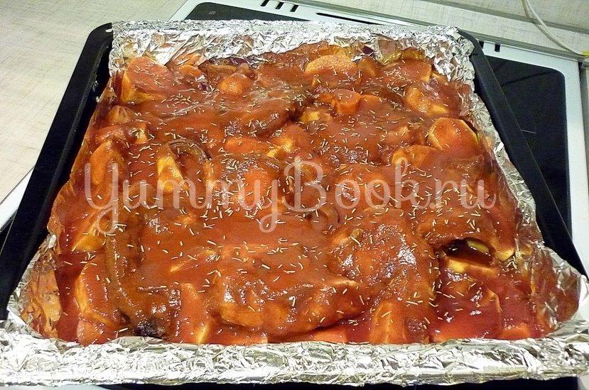 Острая утка, запечённая с картофелем и морковью - шаг 6