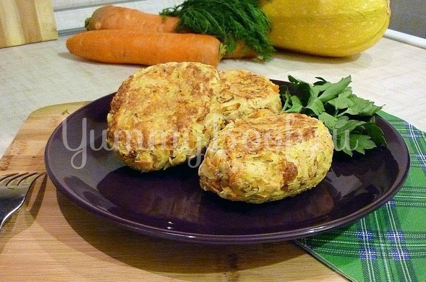Кабачково-картофельные котлетки с морковью