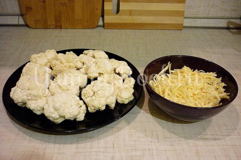 Цветная капуста, запечённая в сметанно-сырном соусе - шаг 2