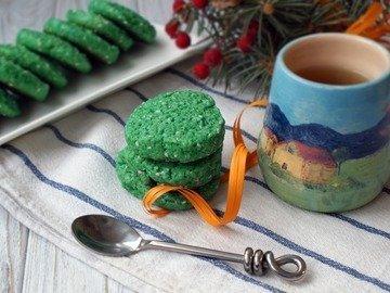 Печенье с чаем Матча