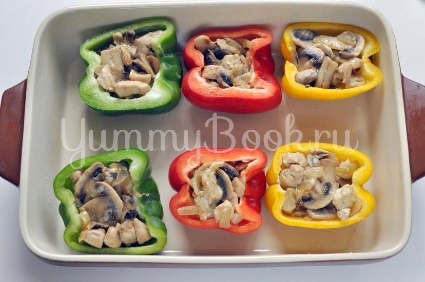 Запеченные перцы с курицей и грибами - шаг 7