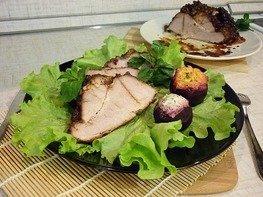 Запечённая свинина в пряном маринаде