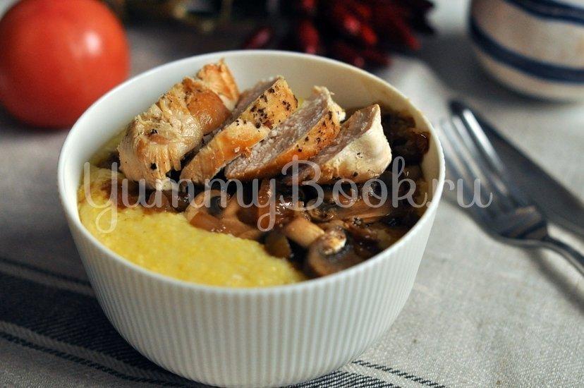 Кукурузная каша с курицей и грибами - шаг 9