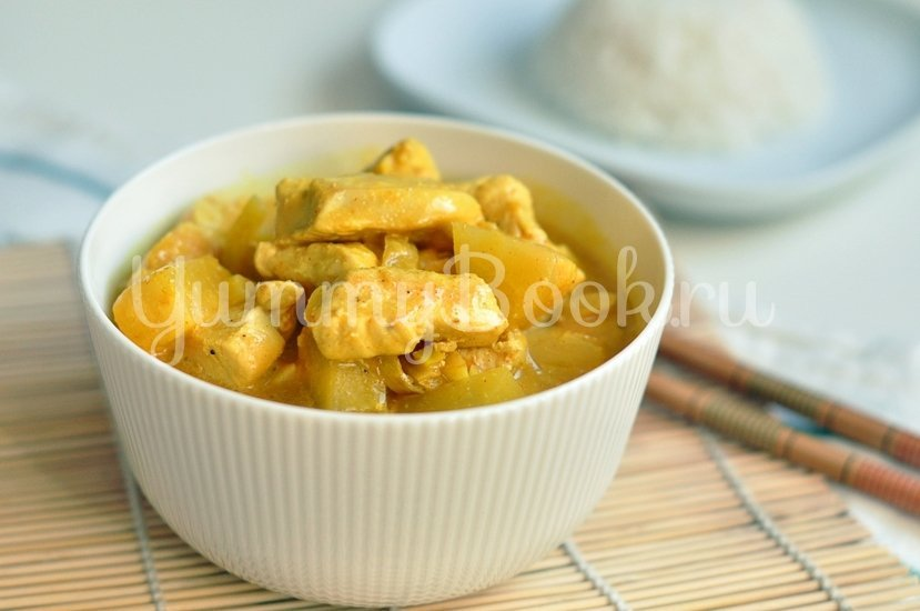Карри с курицей и ананасами - шаг 6