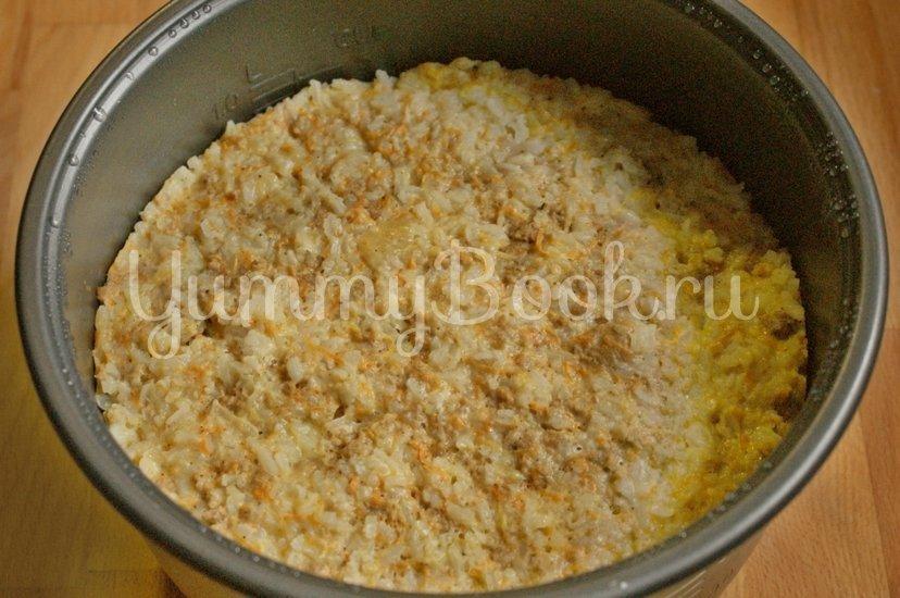 Рисовая запеканка с куриных фаршем в мультиварке - шаг 6