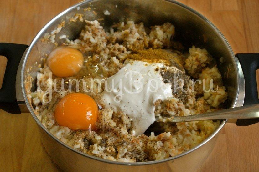 Рисовая запеканка с куриных фаршем в мультиварке - шаг 4