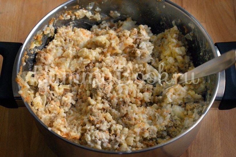 Рисовая запеканка с куриных фаршем в мультиварке - шаг 5