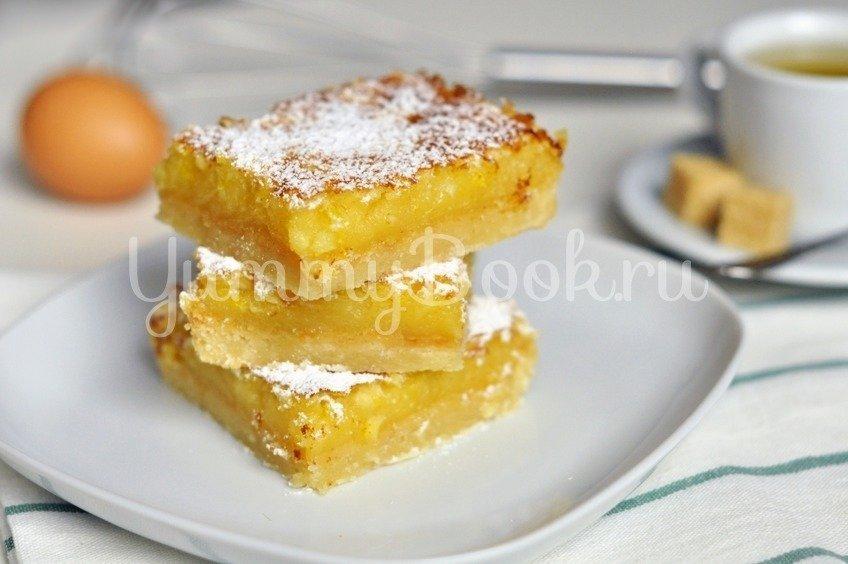 Лимонный пирог (лимонные квадратики)