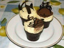 Суфле в шоколадных стаканчиках