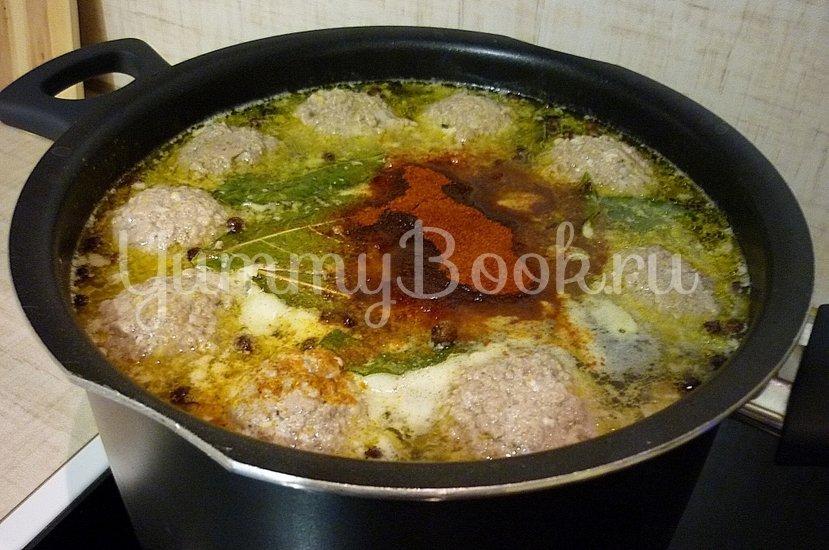 Лёгкий суп с тыквой и фрикадельками - шаг 9