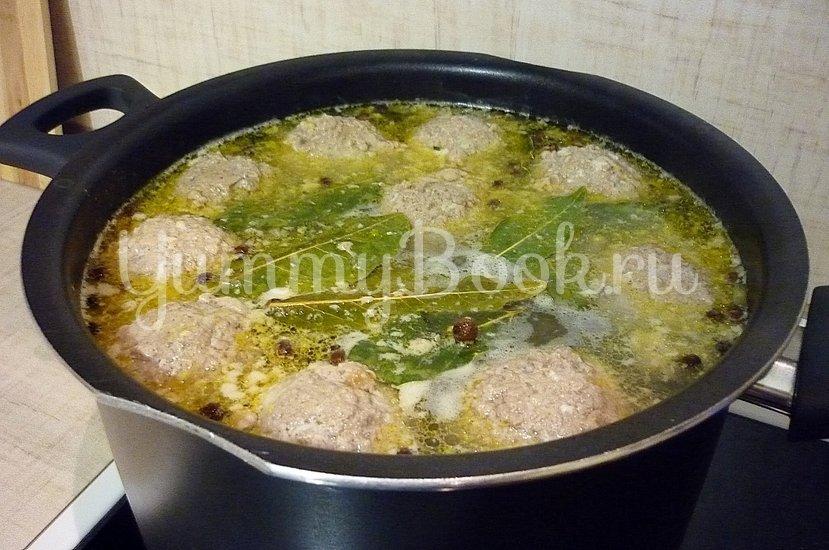 Лёгкий суп с тыквой и фрикадельками - шаг 8