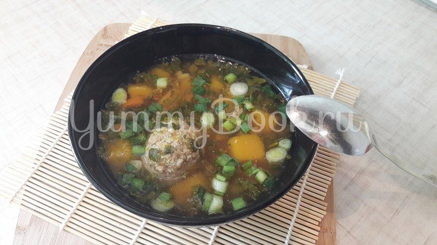 Лёгкий суп с тыквой и фрикадельками - шаг 10