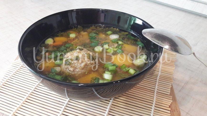 Лёгкий суп с тыквой и фрикадельками - шаг 11