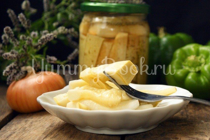 Маринованные кабачки с кетчупом Чили