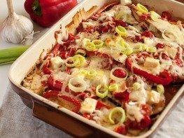 Баклажаны с сыром в томате