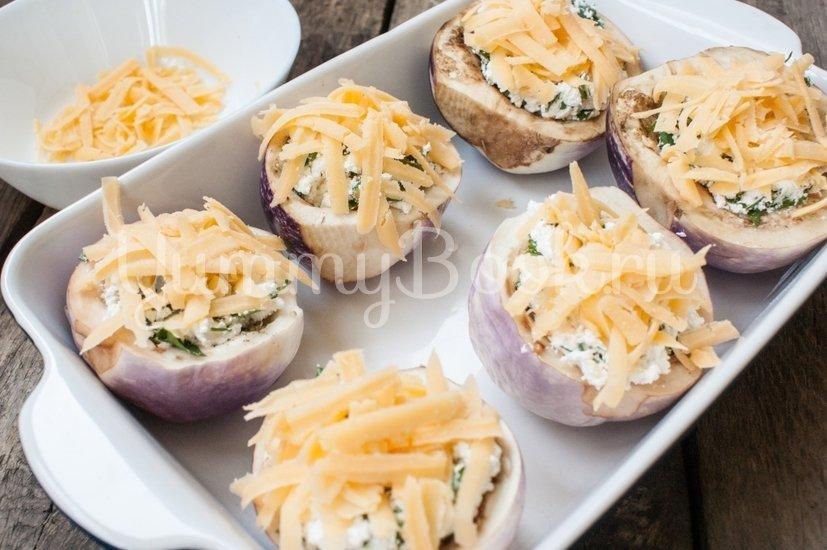 Запечённые баклажаны с творогом и сыром - шаг 4