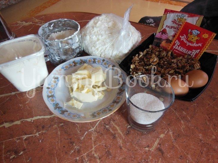 Творожный пирог с грецкими орехами - шаг 1