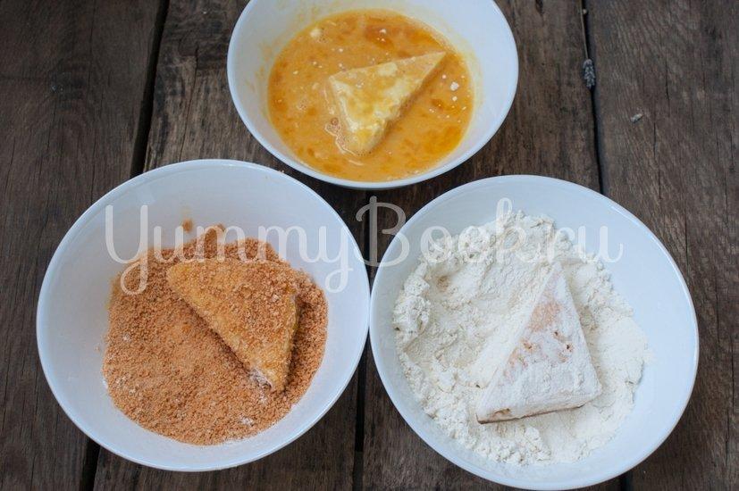 Жареный сыр в панировке - шаг 3