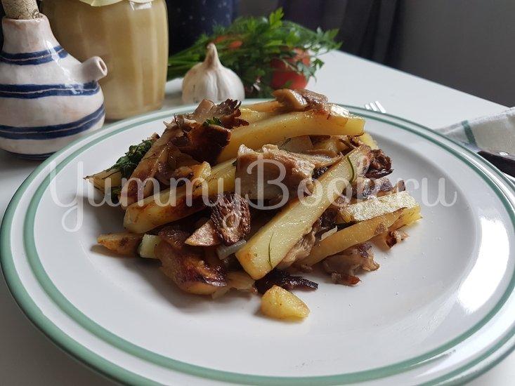 Вешенки с жареной картошкой - шаг 13